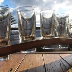 4 Pines tasting paddle, empties
