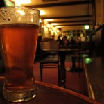 A beer at the Wig & Pen