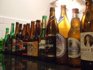 Beer 101 tasting session empties