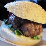Mini venison burger