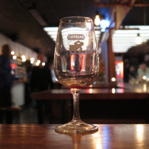 Cantillon tasting glass from Zwanze Day (91 Aro, 1 October 2016)
