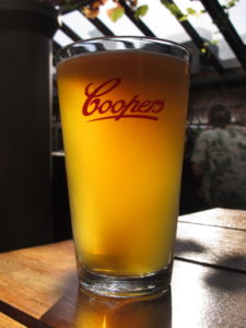 Coopers Sparkling, backlit (Hop Garden, 31 December 2012)