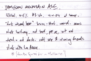 Jamieson 'Mountain Ale'