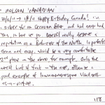 Diary II entry #118, Molson 'Canadian'