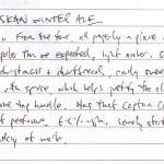 Diary II entry #120, Alaskan Winter Ale