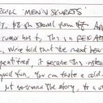 Diary II entry #126, Invercargill 'Men'n Skurrts'