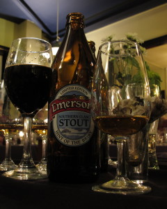 Emerson's 'Southern Clam' stout, plus whisky and oysters (LBQ, 20 July 2014)