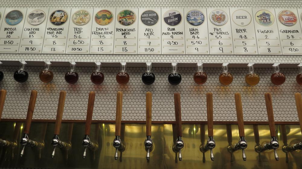 Beer taps (91 Aro Street, 15 October 2015)