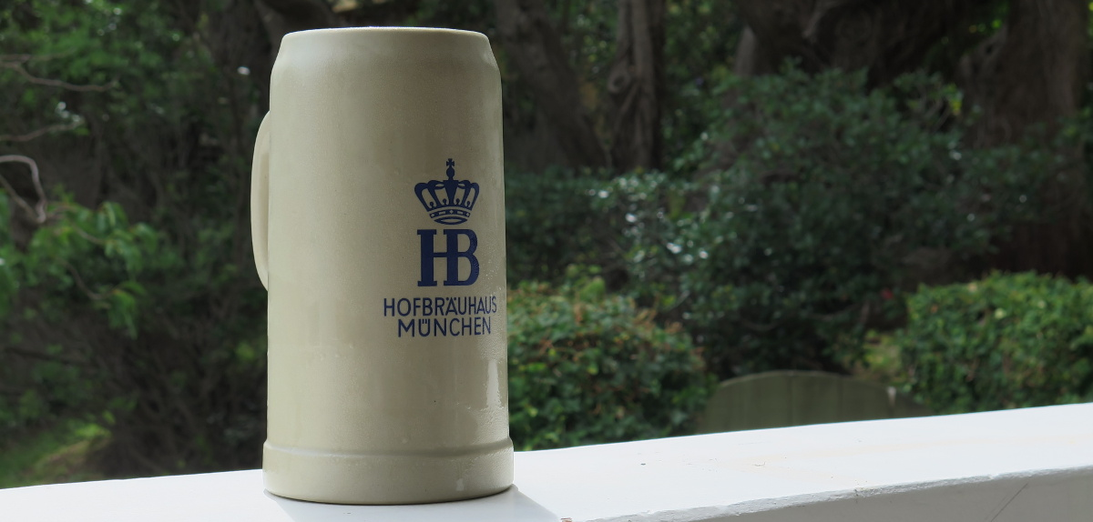 A Hofbrau stein, technically. (My house, 25 January 2015)
