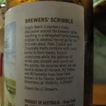 Little Creatures Single Batch Oatmeal Stout, brewers' scribble