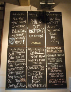 Malthouse blackboards (1 September 2009)