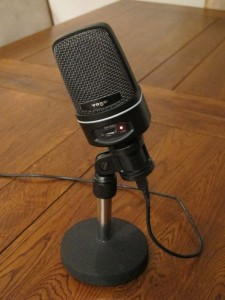 Our beloved Newsradio-esque microphone