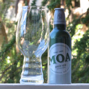 Moa Pale Ale, in its aluminum bottle