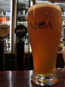 Moa Pale Ale, reformulated and on tap