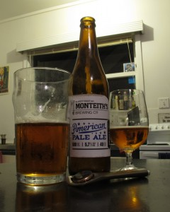 "Monteith's ""American Pale Ale"" (My house, 18 March 2014)"
