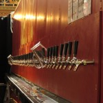 Row of taps