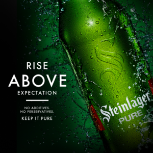 Steinlager Pure ad (copyright presumably lies with Lion / Kirin)