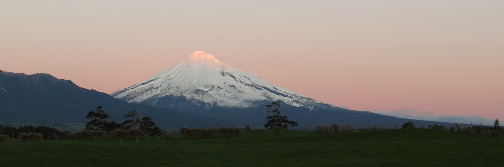 Mount Taranaki at Sunset, on the way home (7 August 2016)