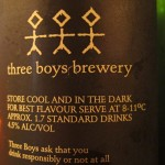 Three Boys Golden Ale, serving suggestions