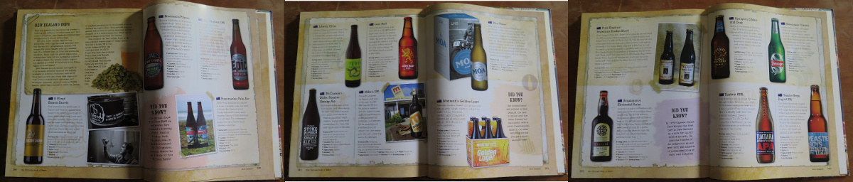 New Zealand beer spread from The Ultimate Book of Beers (2014) — here under fair use for criticism / comment