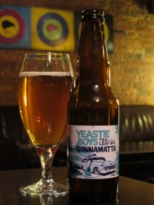 A later / right-now / not-long-ago bottle of Yeastie Boys 'Gunnamatta'