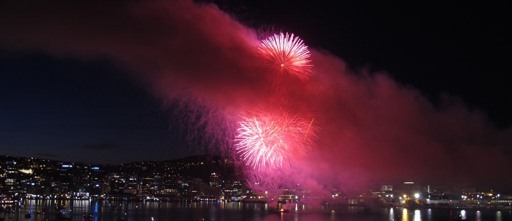 Even sillier fireworks (Wellington, 8 November 2014)